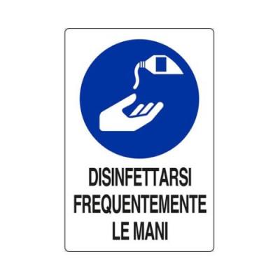 """CARTELLO ALL.30X20  M0220030 """"DISINFETTARSI FREQUENTEMENTE LE MANI"""""""
