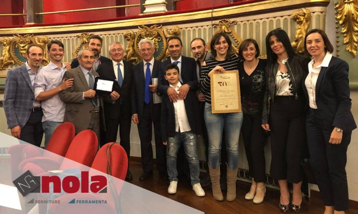Imprese storiche salernitane: Nola Ferramenta premiata dalla Camera di Commercio di Salerno per i cinquanta anni di attività