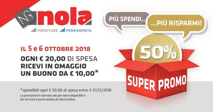 """Promozione """"Più spendi e più Risparmi!"""" solo il 5 e il 6 ottobre: approfittane!"""