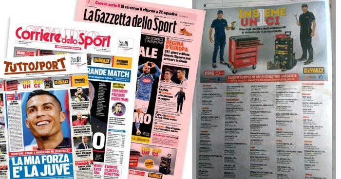 """Nola Ferramenta su La Gazzetta dello Sport, Corriere dello Sport e Tutto Sport, con la promozione """"INSIEME UNICI"""""""