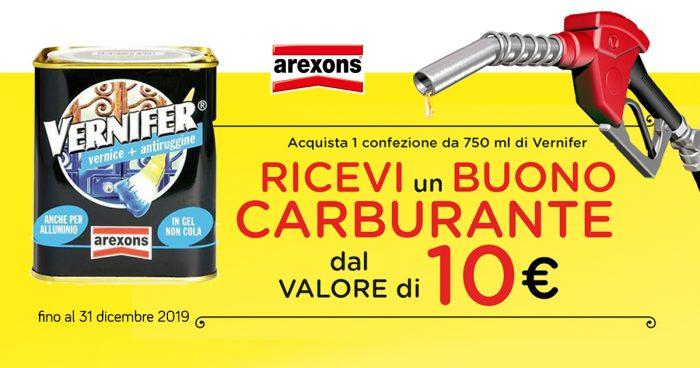 BUONO CARBURANTE dal valore di 10,00 euro con Arexons
