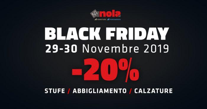 Sconti pazzeschi per il Black Friday del prossimo 29 e 30 novembre!