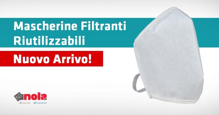 Nuovo arrivo: mascherine filtranti riutilizzabili