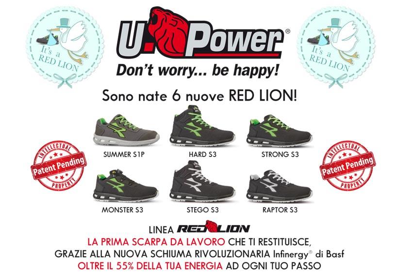 Scarpe U-power linea red Lion adatte per il cantiere